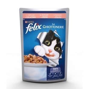 Felix Le ghiottonerie mojado Alimento completo para gato Salmón 10x 100gr