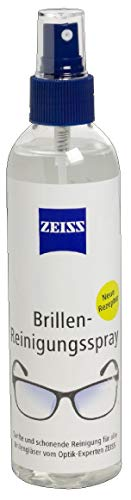 ZEISS, spray detergente per occhiali, senza alcol, 240 ml, per la pulizia professionale delle lenti degli occhiali.