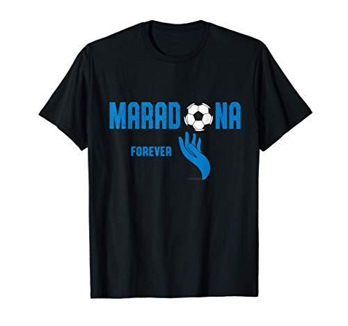 Diego Maradona giocatore di calcio Napoli Argentina Campione Maglietta
