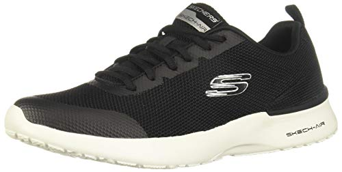 Skechers Skech-air Dynamight - Sneaker da uomo, Nero (Nero e bianco), 46 EU