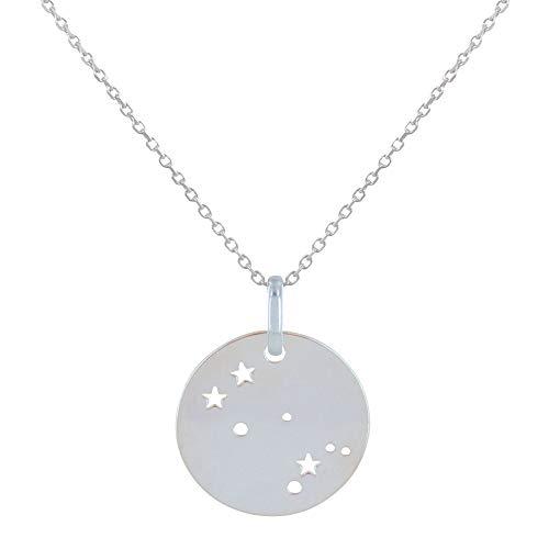 Les Poulettes Jewels - Sterling Silver Necklace Zodiac Constellation Gemini - Size 45 cm