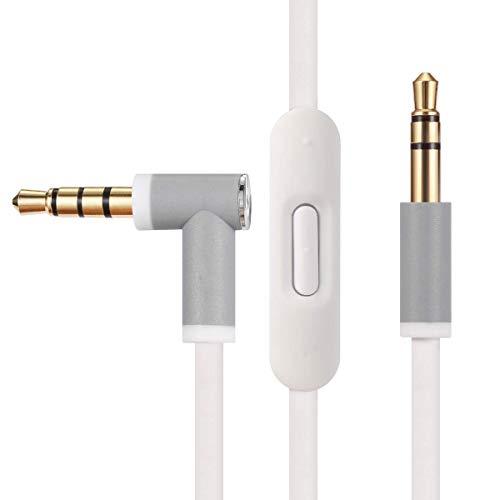Cable de audio de repuesto con micrófono en línea y control para auriculares Beats by Dr Dre Solo Studio Pro Detox Wireless Mixr...