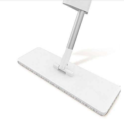 Mop Flat Household Lazy Mop Rotating Hand-free Wash Wet Dual-use Tile Floor Wooden Floor a Drag Floor Cleaning Artifact (Color : A)