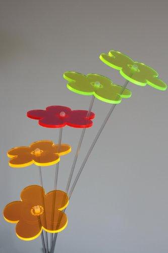 Lumi Flowers ® - Die Leuchtblumen - 5er Set in Bunt (GGRYY)