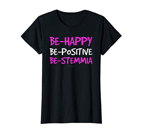 Donna Magliette Divertenti Frasi - Be Happy Be-Positive Be-stemmia Maglietta