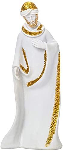 WQQLQX Estatuilla Resin Virgin Mary Estatua Natividad Estatuilla Santa Familia Escultura Religiosa Christian Catholic Ornament Decoración de la Oficina del automóvil Regalo Estatua (Color : 2)