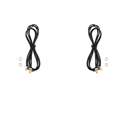 B Blesiya - Cable de extensión de antena coaxial WiFi en 2 partes RP SMA para tarjeta de red de router LAN