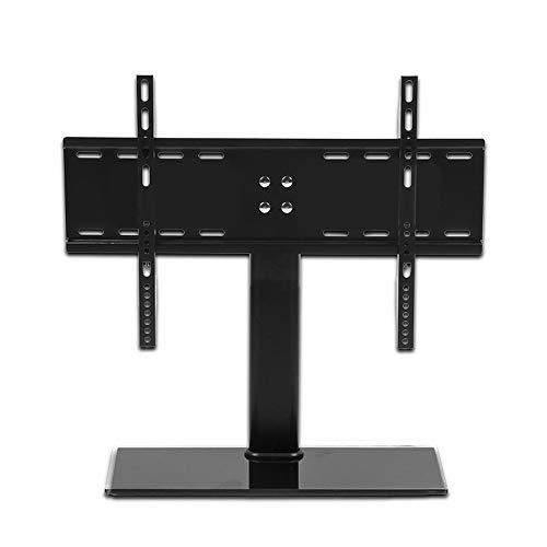 XRJ Porta TV Moderno Nero TV Supporto Universale Porta TV Regolabile in Altezza TV Base Pratico Stand Stand TV (Color : Black, Size : 32-55 Inches)