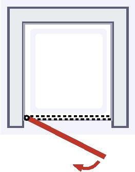 Puerta de ducha giratoria en nicho, mampara de ducha con cristal transparente con marco serigrafiado, perfil blanco, 90 x 180 cm: Amazon.es: Bricolaje y herramientas