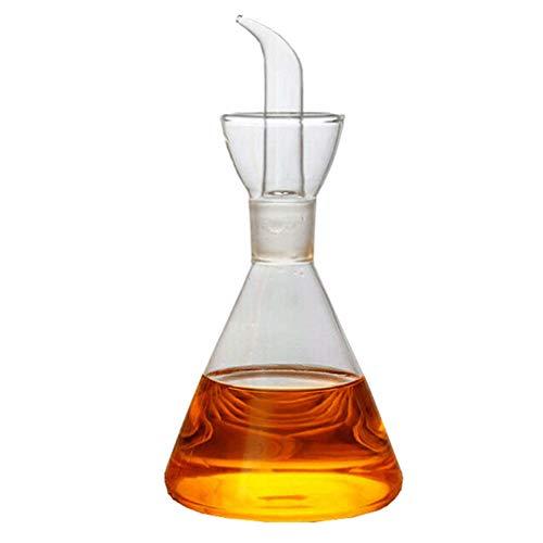 Hemoton Oliera in Vetro salvagoccia Conica-Dosatore Olio e Aceto(350ml)