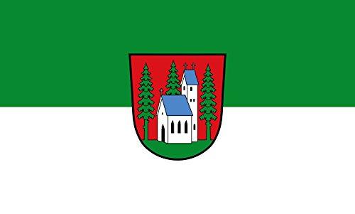 Unbekannt magFlags Tisch-Fahne/Tisch-Flagge: Holzkirchen, M 15x25cm inkl. Tisch-Ständer