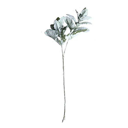 Andouy Künstliche Blumen Kunstblätter Deko Plastikblumen Unechte Blume Kunstpflanzen Faux Plant für Haus Balkon Garten(1 PC.Grün-1)