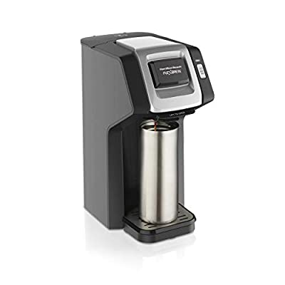 Hamilton Beach 49974 FlexBrew Coffee Maker Compatible with Pod Packs and Grounds, Single-Serve, Black