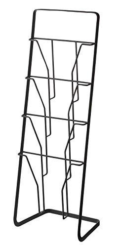 山崎実業 マガジンラック マガジンスタンド タワー 4段 ブラック 6513