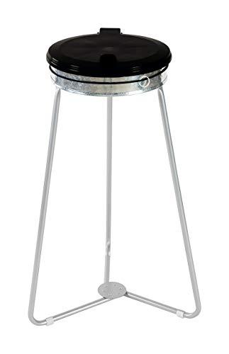 Devil Ray - Dreibein Müllsackständer Müllsackhalter Abfallsammler Waste Bin Holder verzinkt 70-120 L stationär schwarz