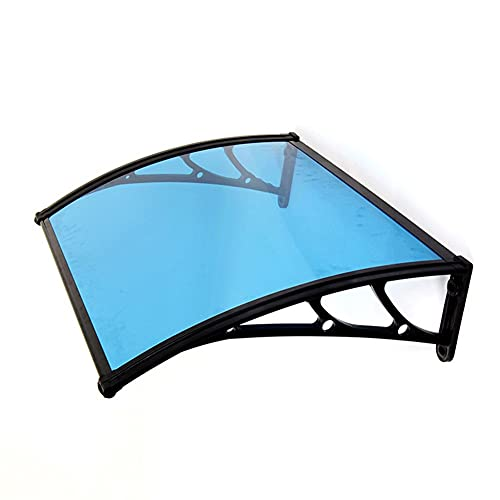 GXFWJD Marquesina De Puerta Transparente/toldos para Exteriores/Toldo De Puerta De Entrada De Sombra De Protección UV Hoja De Policarbonato (Color : Blue, Size : 150x100cm)