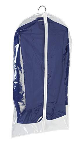WENKO Kleidersack Transparent 100 x 60 cm - Kleiderhülle, Polyethylen-Vinylacetat, 60 x 100 cm, Transparent