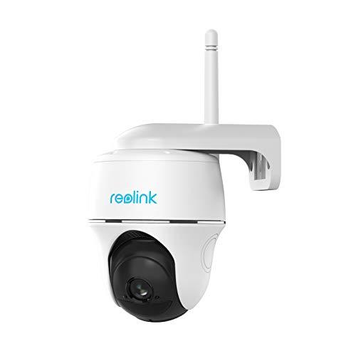 Reolink Überwachungskamera Aussen Akku 355°/140° Schwenkbar, Kabellose WLAN IP Kamera mit PIR Bewegungsmelder, Sternenlicht Nachtsicht, 1080p HD, 2-Wege-Audio, Argus PT