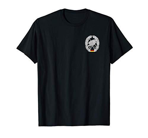 Herren Fernspäher Deutsche Bundeswehr stürzender Adler T-Shirt
