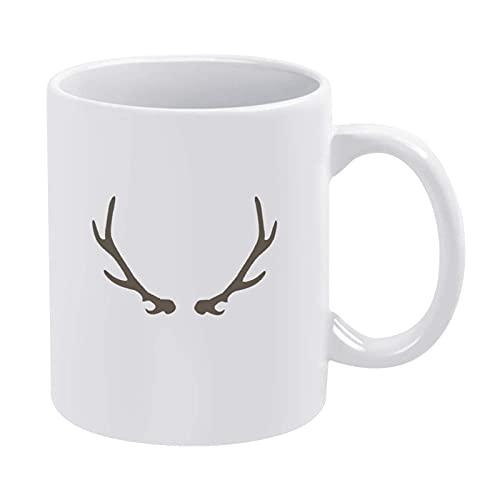 Taza de café divertida con diseño de cuernos de ciervo 03, para hombres, mujeres, niños, Navidad, para mujer, mujer, mujer, mujer, madre, abuela, maestro, amigas, cumpleaños, día de la madre P