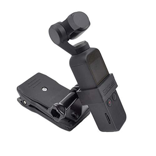 for DJI Osmo Pocket zubehör,Smart Motion Kamera Expansion 1/4 Zoll Schraube Adapter Halterung + Clip für DJI Osmo Pocket Handheld Gimbal Stabilizer (Schwarz)