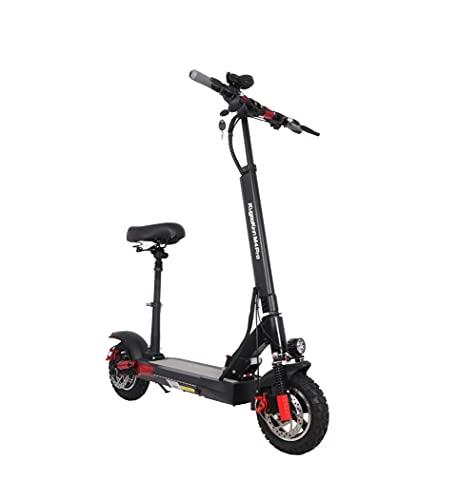 Monopattino Elettrico per adulti Scooter con sedile 45 km / h Velocità 500 W Motore Potente 16Ah 60 km 10 pollici Ruota di scarico pieghevole E Scooter Stock in Polonia