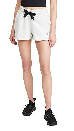 adidas by Stella McCartney Women's Sweat Shorts, Talc, White, Off White, X-Small