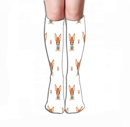 GHEDPO Hohe Socken Women's Girls Novelty Socks 19.7