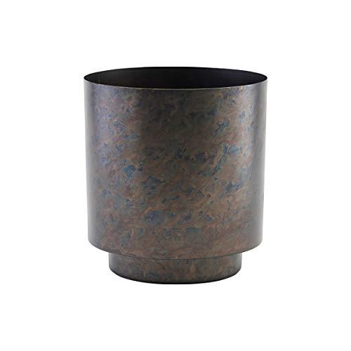 House Doctor Sp0872 Como Pot de Fleurs Fer Mat/Noir Hauteur 25 cm Diamètre 20 cm