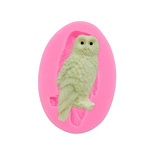 LINLIN Owl Folded Cake Silicone Mold Handmade Chocolate Mold Cake Dessert Decorative Pattern Pastry DIY Baking Gadgets