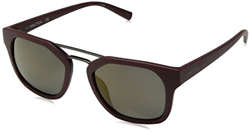 Nautica Herren N3628Sp 602 55 Sonnenbrille, Rot (Matte Oxblood)