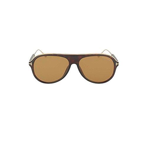Tom Ford FT0624 52E Dark Havana Nicholai Pilot Sunglasses Lens Category 2 Size
