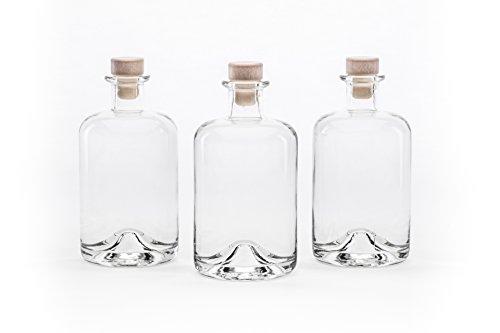slkfactory, bottiglie di vetro vuote per vino, liquori, aceto, olio o da farmacia (500 ml) 10 pezzi bianco