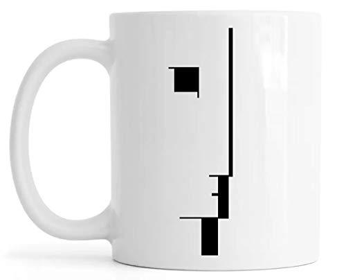 Gesicht Profil Kunst Spiegelblank Tassen Mug Glossy Mug Cup