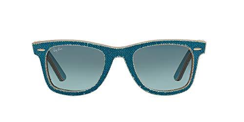 Ray-Ban MOD. 2140, Gafas de Sol Unisex, Denim Light Blue, 50 mm