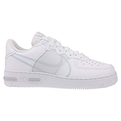 Nike Air Force 1 React, Zapatillas de bsquetbol Hombre, White Pure Platinum, 38.5 EU