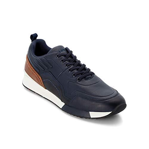 LLOYD Herren Low-Top Sneaker Edson, Männer Sneaker,Halbschuh,Schnürschuh,Strassenschuh,Business,Freizeit,Marine/Blue/New Nature,8.5 UK / 42.5 EU