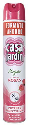 CASA JARDIN   Insecticida Aerosol   Potente Insecticida   Acción Instantánea  Hogar Libre de Insectos   Perfume Rosas   Contenido 750 ml