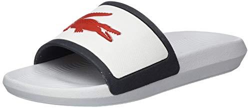 Lacoste Womens Croco Slide TRI 3 CFA Sneaker, Weiß (Wht/NVY/Red), 38 EU