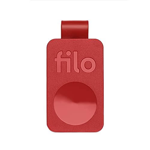 FiloTag 2021. Trova Oggetti Senza Sim | Tracker Bluetooth. Ottima Idea Regalo Tecnologico per Donna | Colore Rosso,1 Unità. Made in Italy