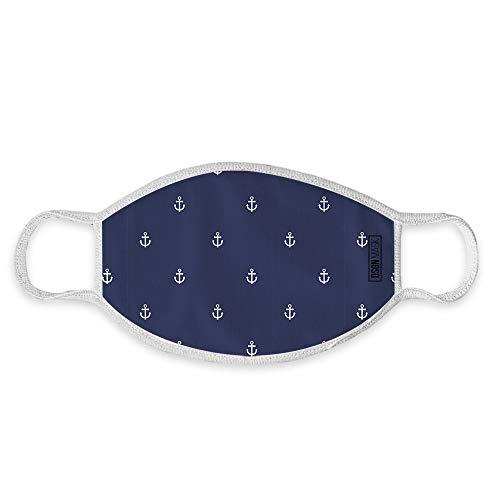 Dilara Mundbedeckung für Kinder waschbar Sternehimmel - Maske aus Baumwolle für Jungs und Mädchen mit Motiv (Anker)