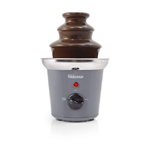 Tristar CF-1603 Fuente de chocolate con 2 ajustes de potencia, función para mantener el calor, carcasa de acero inoxidable
