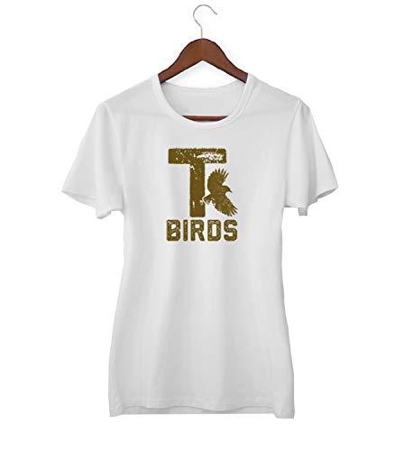 T Vogels Vet Film Vintage Retro Style_KK016839 Shirt T-shirt voor Vrouwen - Wit