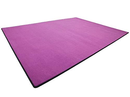 HEVO Vorwerk Bijou lila Teppich | Spielteppich Nicht nur für Kinder 200x250 cm
