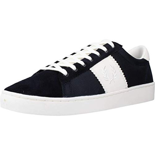 Fred Perry Spencer Poly Leather Navy B4102608, Scarpe Sportive - 44 EU