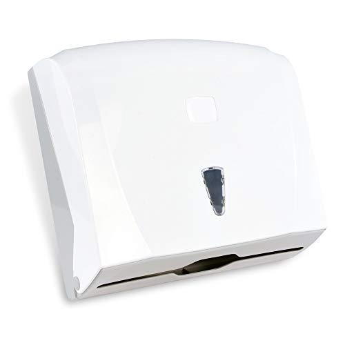 SemyTop ST-5010 Falthandtuch-Spender, Weiß, 255 x 240 x 90 mm