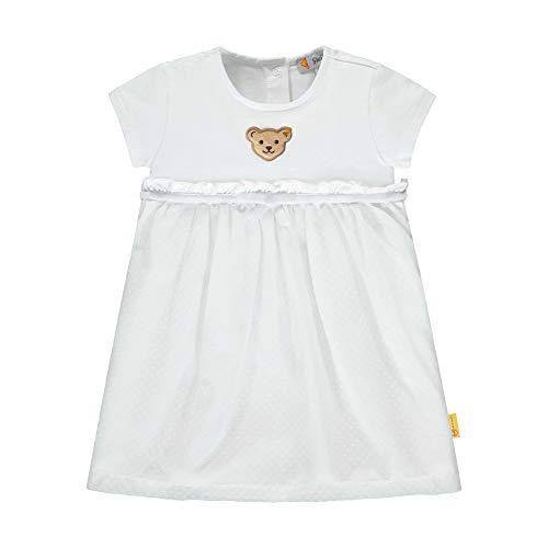Steiff Mädchen Kleid, Weiß (Bright White 1000), 80 (Herstellergröße: 080)