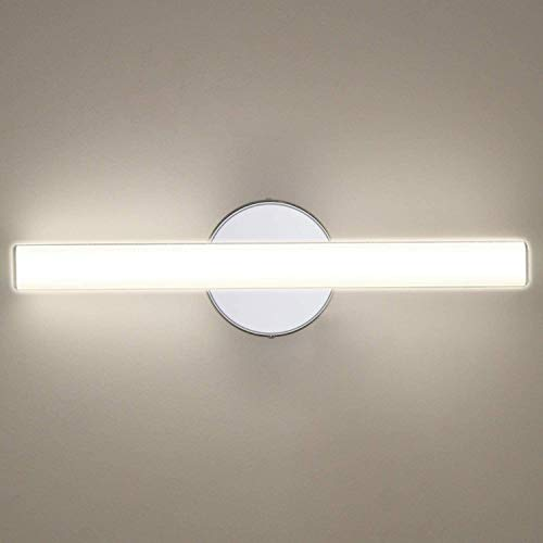 OOWOLF LED Spiegelleuchte, [Neue Version]12W LED Spiegelleuchte Badleuchten Fuer Spiegel, 4000K Natur weiß 1200LM,Energieklasse A++, Modedesign für Bad, Spiegel Make-up, Schlafzimmer, etc