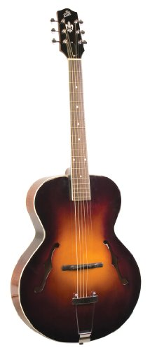 The Loar LH-600-VS Hand-Carved Archtop Acoustic Guitar, Vintage Sunburst Finish