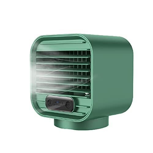 Qagazine Mini aire acondicionado móvil refrigerador de aire portátil humidificador silencioso USB cargable Mute Spray Ventilador de refrigeración para el hogar coche oficina